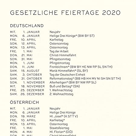 Leuchtturm1917 - Agenda 2020, formato A5, tapa dura, con ...