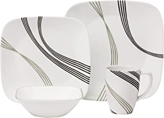 product image for Corelle Boutique Square Urban Arc 16-Piece Dinnerware Set, Service for 4