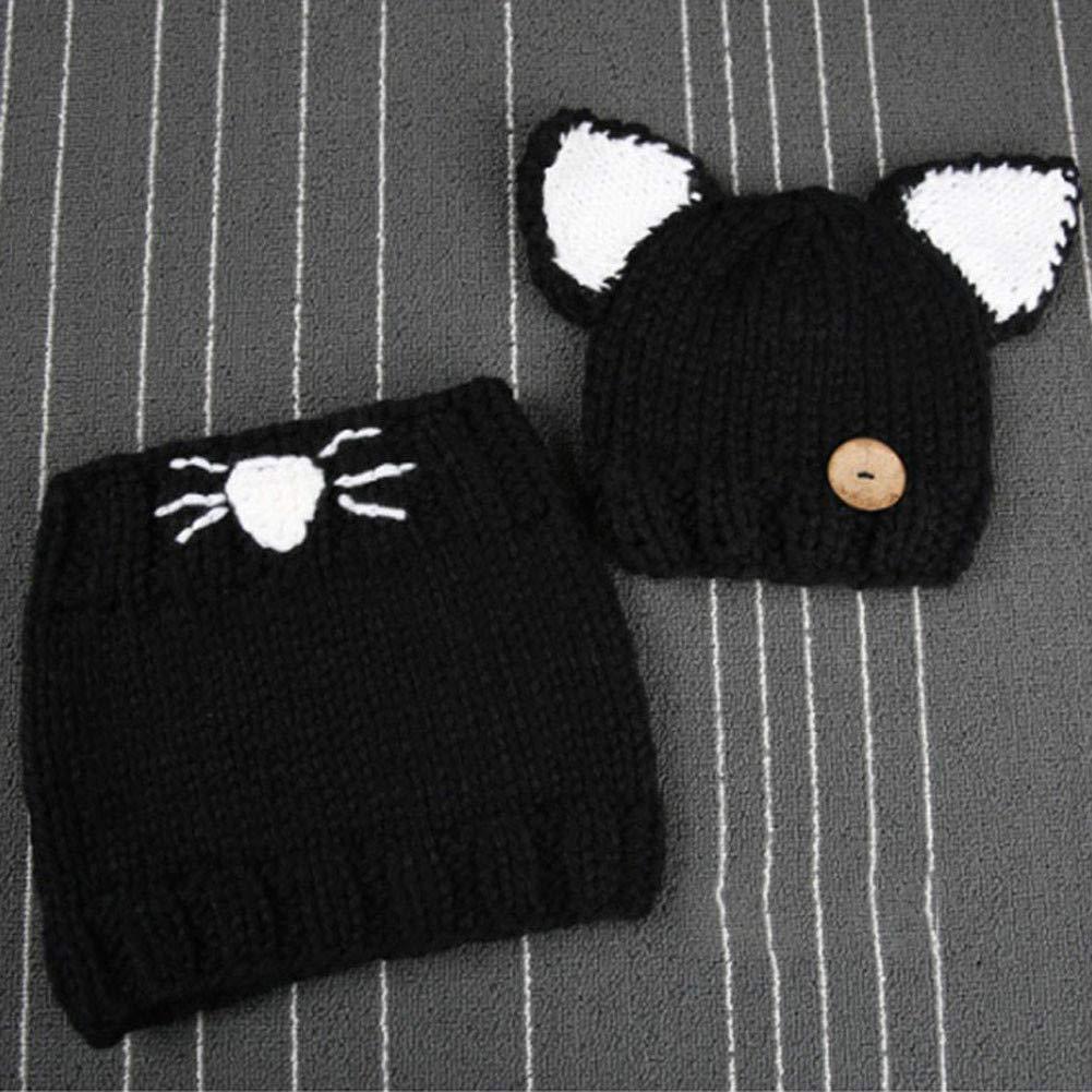 PCEPEIVK Winter Kids Warm Animal Hats Knitted Hood Scarf WNew Design Baby Hat Cap Cat Ear Fox Winter Beanie Hat Children