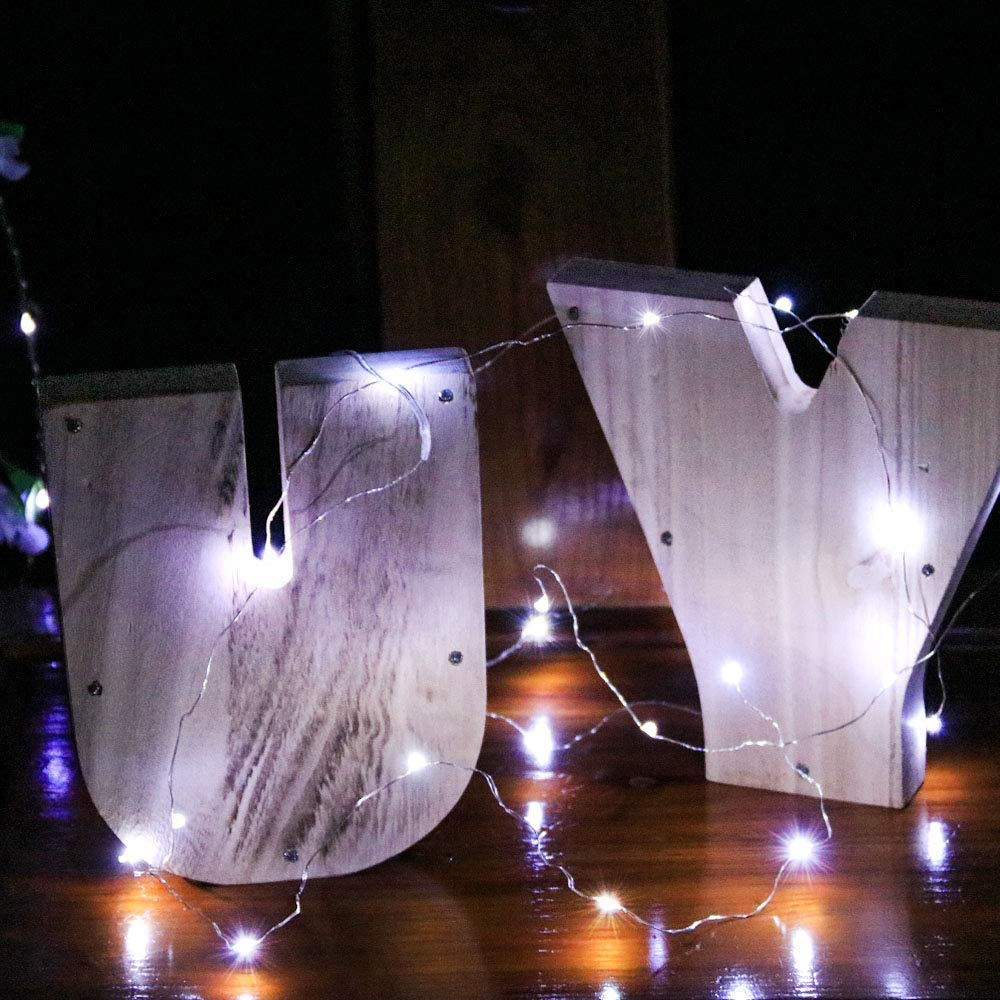 6x 20LED Fairy String Lights Starry Rope Copper Wire Lights Battery Operated US