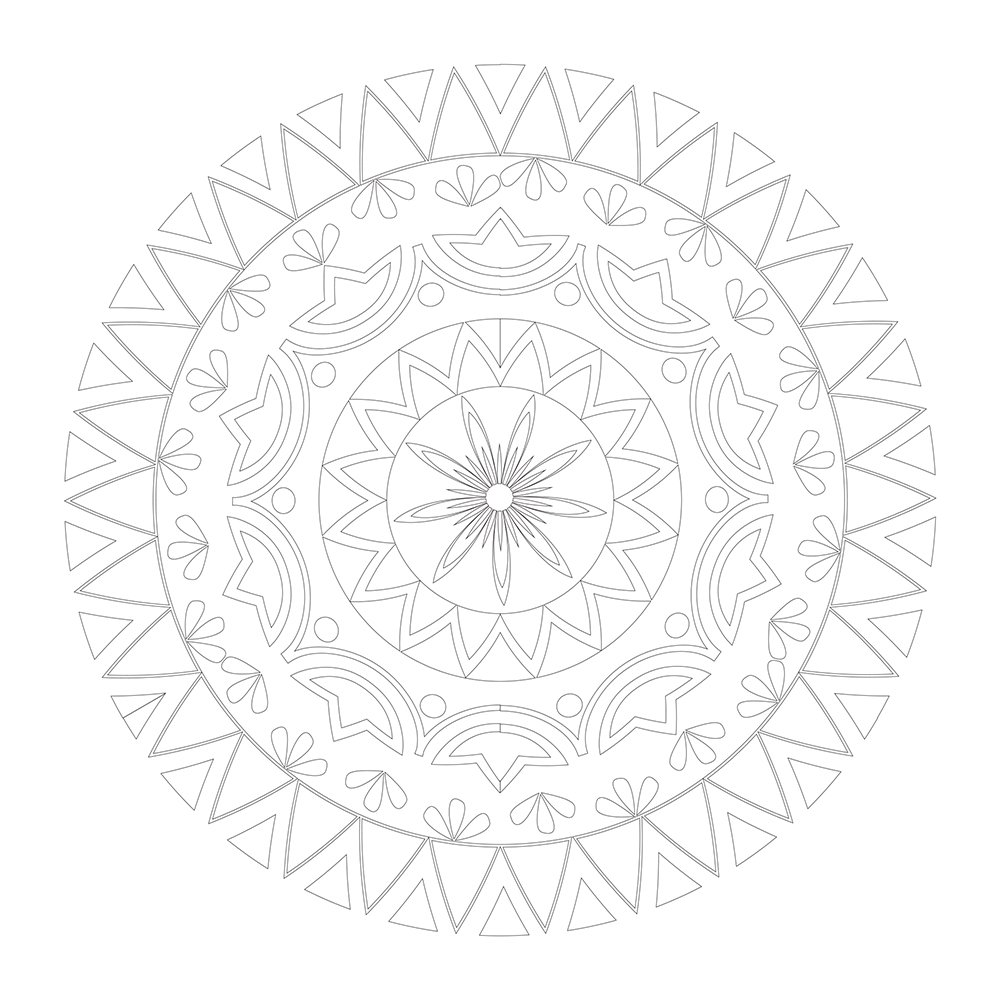 Stress less coloring by the shore - Vive Le Color Mandala Adult Coloring Book Color In De Stress 72 Tear Out Pages Abrams Noterie Original French Edition By Marabout 9781419722554