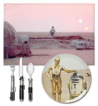 Star Wars Tatooine Dinner Set & Amazon.com | Star Wars Tatooine Dinner Set: Dinner Plates