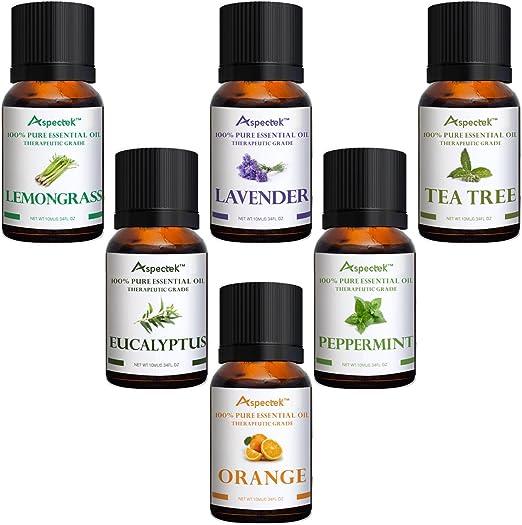 Aspectek – Parte superior aromaterapia aceites esenciales regalo ...