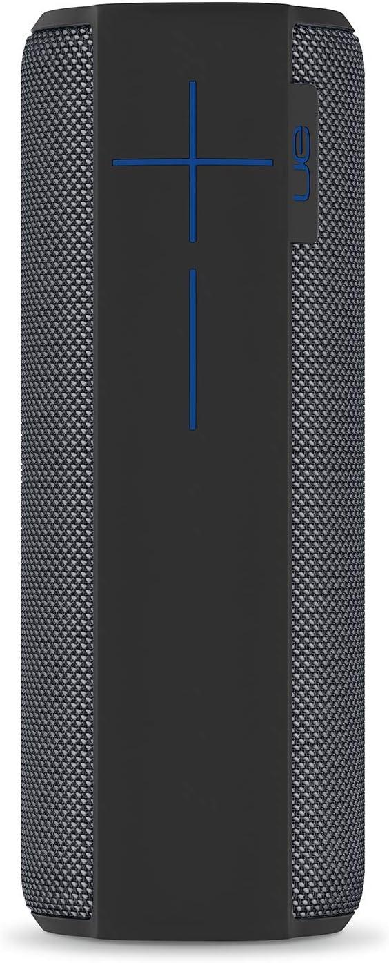 Ultimate Ears Megaboom Tragbarer Bluetooth Lautsprecher 360 Sound Satter Bass Wasserdicht Staubresistent Sturzfest One Touch Musiksteuerung 20 Stunden Akkulaufzeit Charcoal Schwarz Audio Hifi