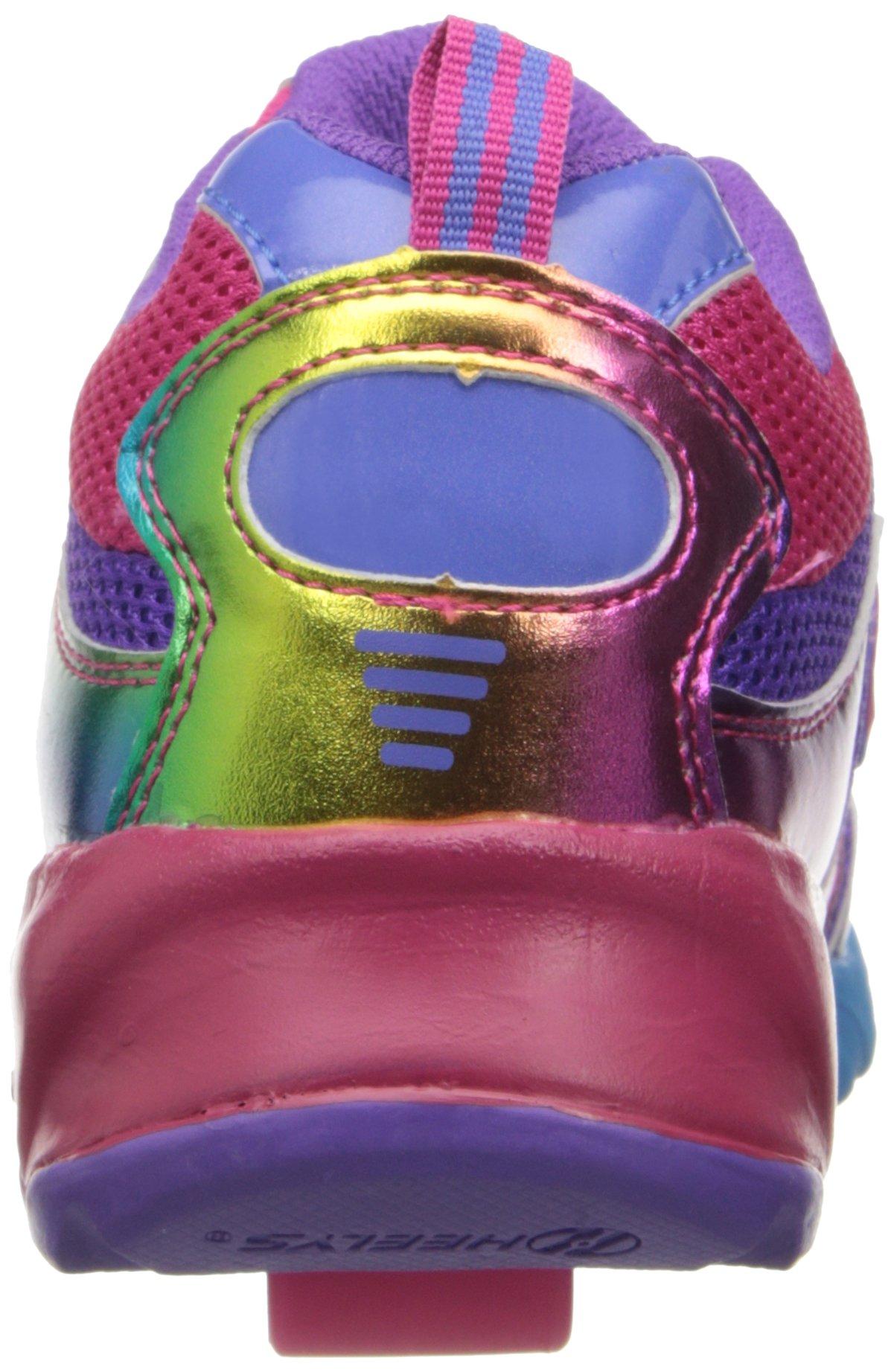 Heelys Race Skate Shoe (Little Kid/Big Kid),Purple/Rainbow,2 M US Little Kid by Heelys (Image #2)