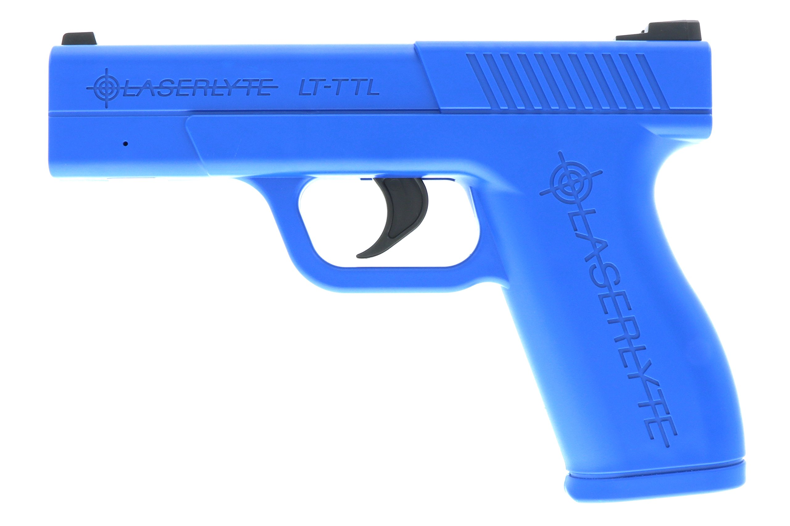LaserLyte Laser Trainer Pistol Full Size GLOCK 19 familiar size weight and feel RESETTING TRIGGER at 5.5 lb is ready to shoot after every pull FIRES a laser dot when REAL GUN SIGHTS for training by LaserLyte
