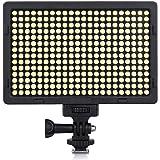 Craphy PT-308撮影ライト LED定常光ライト 308球 3200-5600K(調節可能) 2400Lux 2つのカラーフィルタ付け Canon、Nikon、Sigma Olympus、Pentaxなどのカメラ&ビデオカメラに対応 日本語説明書付け