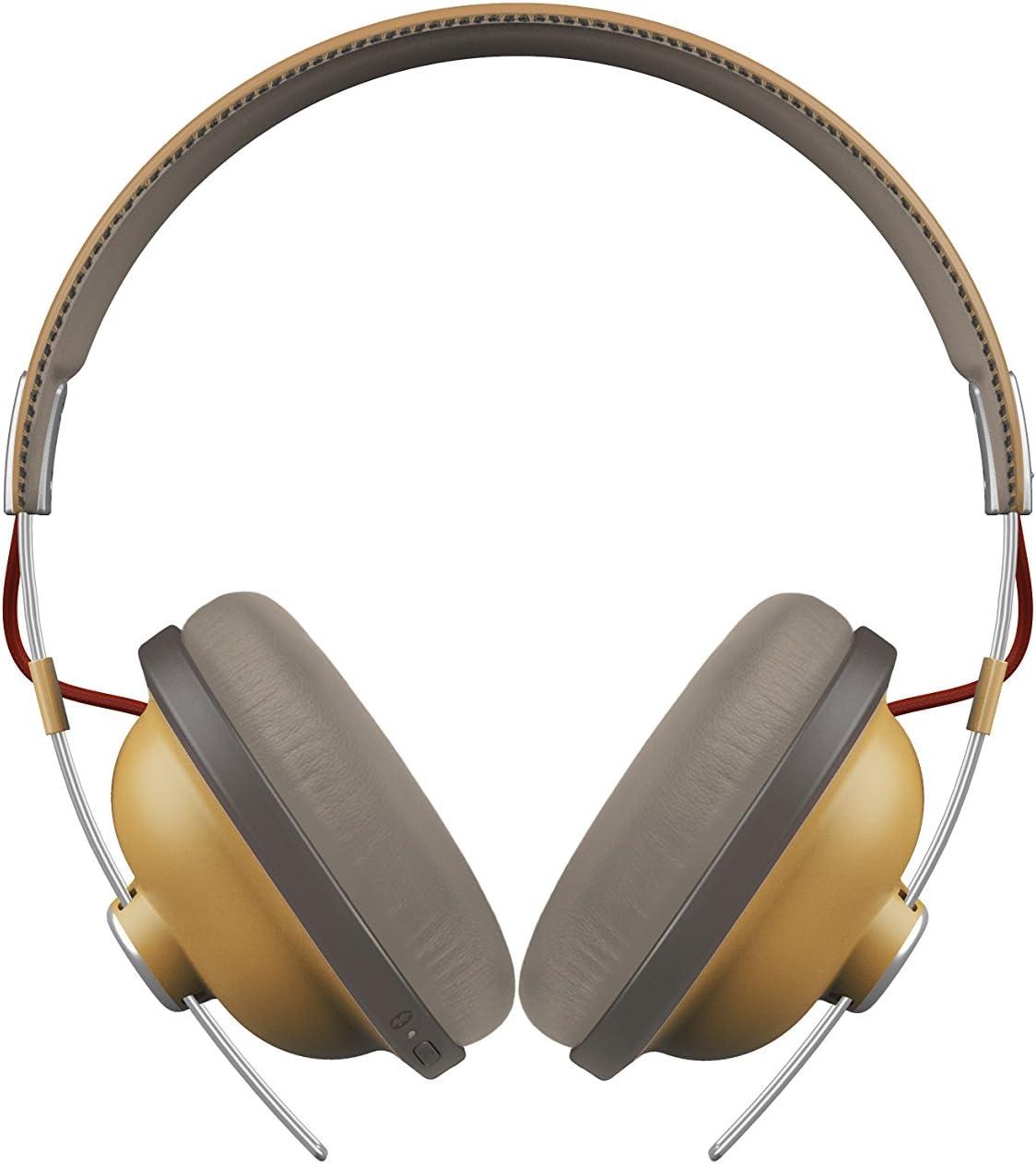 Panasonic RP-HTX80BE-C Auriculares Bluetooth Diadema (24h de Reproducción, Micrófono y Manos Libres, Hi-Fi Sonido, Cascos Inalámbricos, Carga Rápida, Cascos Diadema Premium Móviles, TV, PC), Ocre