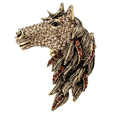 Szxc Jewelry Women s Crystal Big Horse Head Stretch Rings  Amazon.co.uk   Jewellery 1844b1769