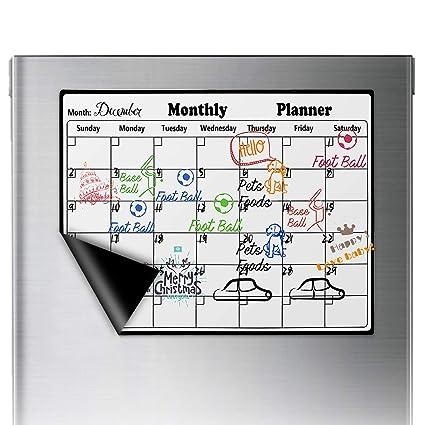 iFCOW calendario magnético pizarra de borrado en seco para ...