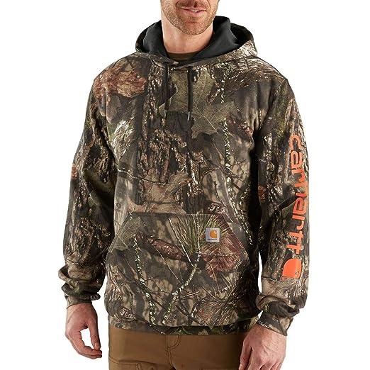 8efa9a1b7 Carhartt Men's Midweight Camo Sleeve Logo Hooded Sweatshirt (Regular and  Big & Tall Sizes)
