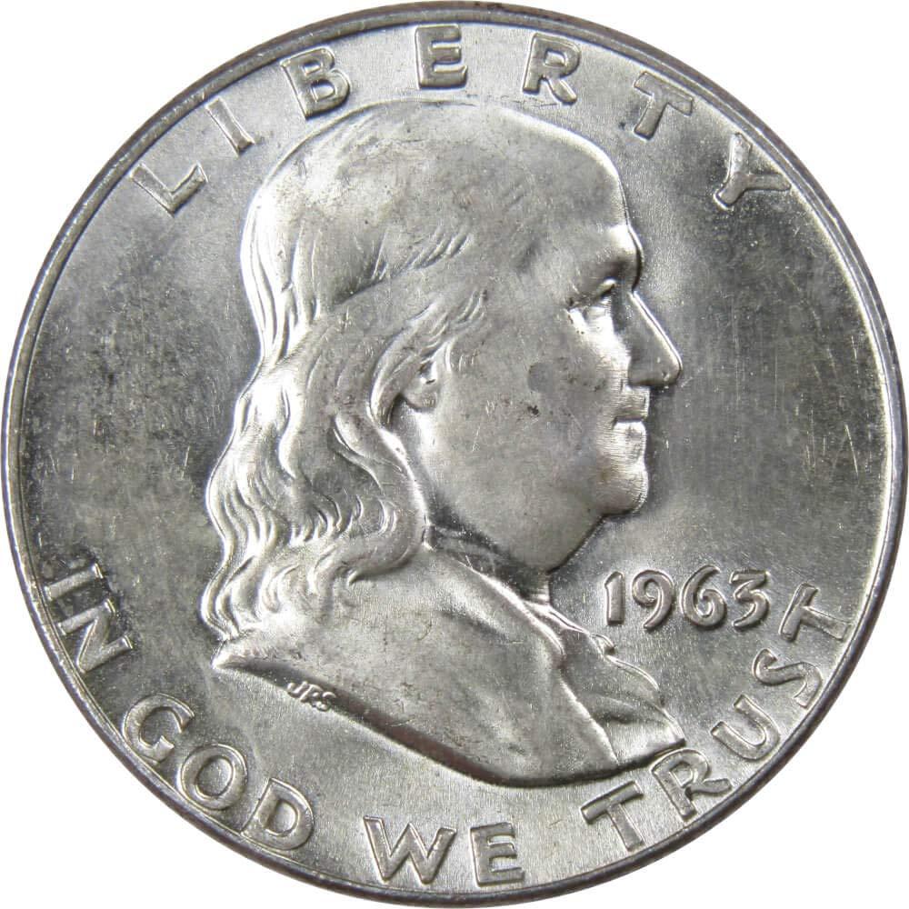 Benjamin Franklin Silver Half Dollar Coin Mint State Condition 1962 U.S