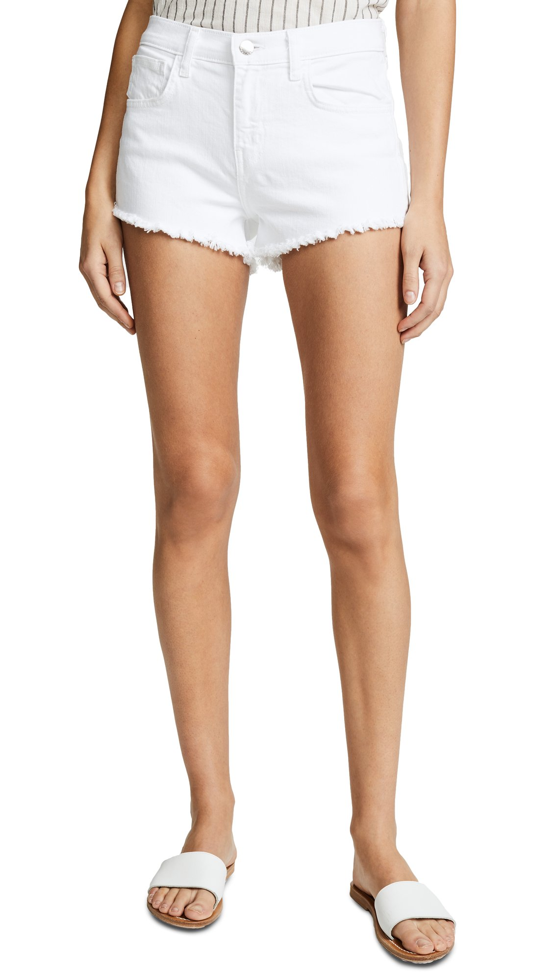 L'AGENCE Women's Zoe Perfect Fit Shorts, Blanc, 26