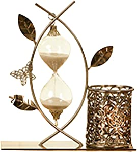 Office Sturdy Desktop Ornaments Metal Table Clock Pen Pencil Holder Luxury Gifts Home Decoration Silver