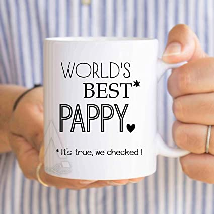 Pappy MugFathers Day Gift Grandpa QuotWorlds Best Pappyquot Birthday For