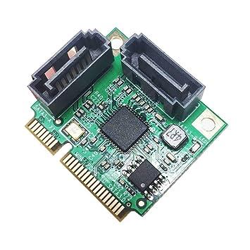 GLOTRENDS - Tarjeta Adaptador PCIe 2.0 a SATA III para Dispositivos de minería IPFS y adición SATA 3.0 MiniPCIE to SATA