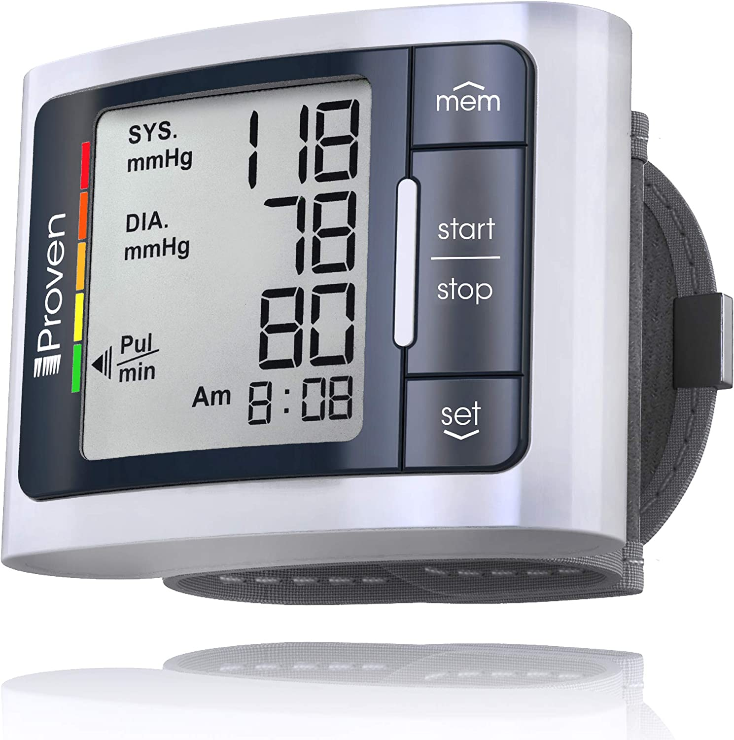 iProven Blood Pressure Monitor Wrist Cuff, Automatic bp Cuff with Irregular Heartbeat Detection, 1 Size bp Cuff fits All, Compact and Easy to Carry Digital Home Blood Pressure Monitor, BPM-337