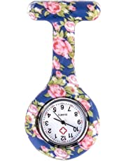 Silicone Nurses Brooch Tunic Fob Pocket Watch Stainless Dial