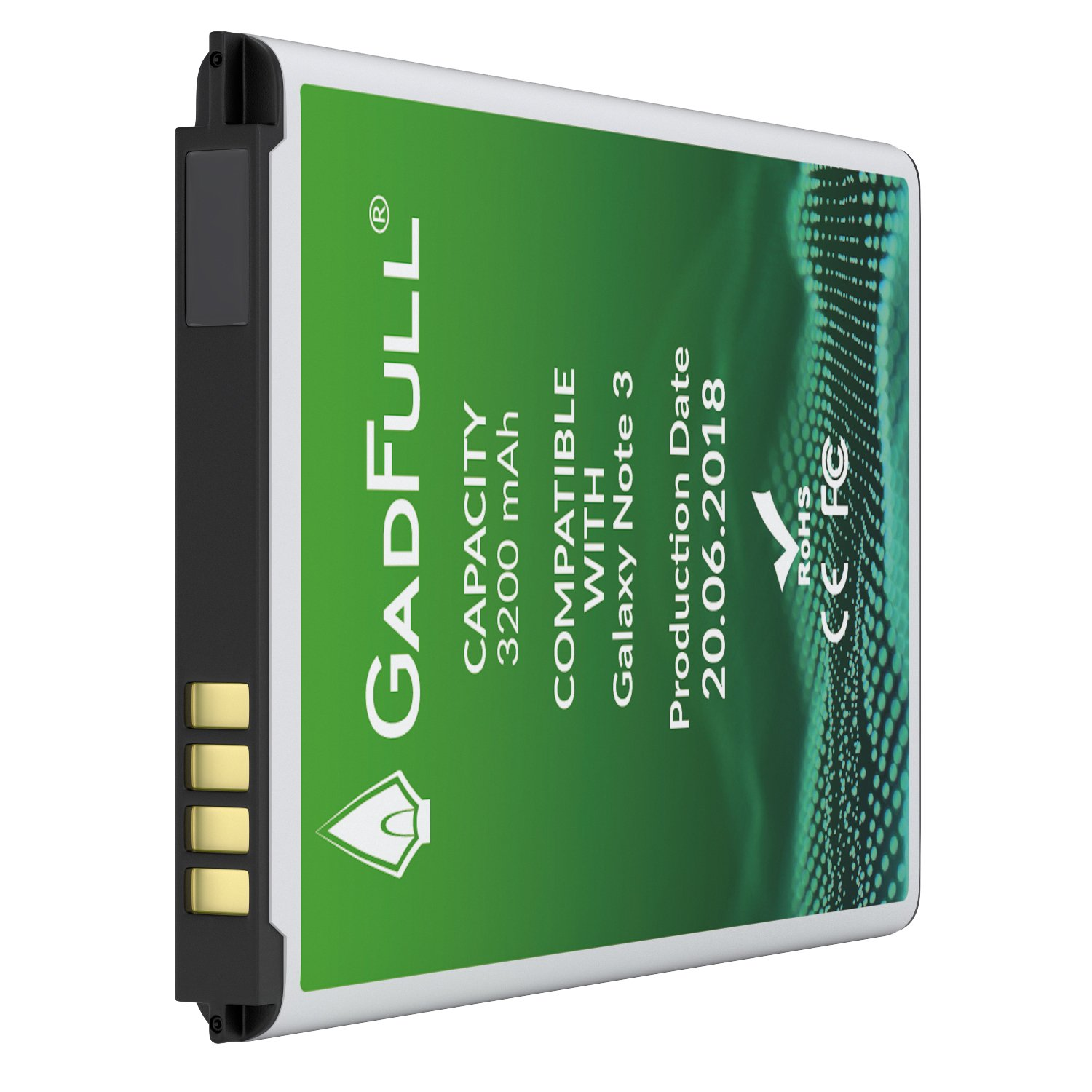 GadFull Battery for Samsung Galaxy Note 3 | Production date 2018 | Corresponds to the original EB-B800BE | Smartphone model GT-N9000 | GT-N9005 | GT-N 9006 | GT-N9009 | replacement battery by GadFull (Image #7)