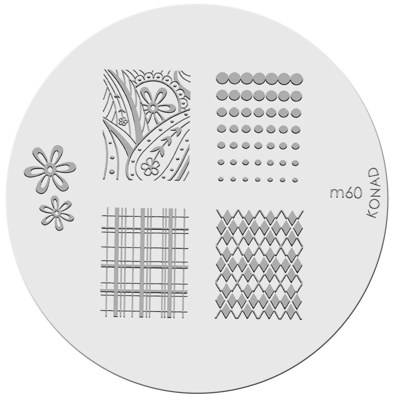 Amazon.com : Konad Nail Art - Stamping Image Plate - M60 : Nail Art ...
