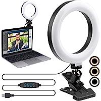 "Video Conference Lighting Kit,ENEGON 6"" Selfie Ring Light for Video Conferencing, 3 Light Modes&9 Level Dimmable Light…"
