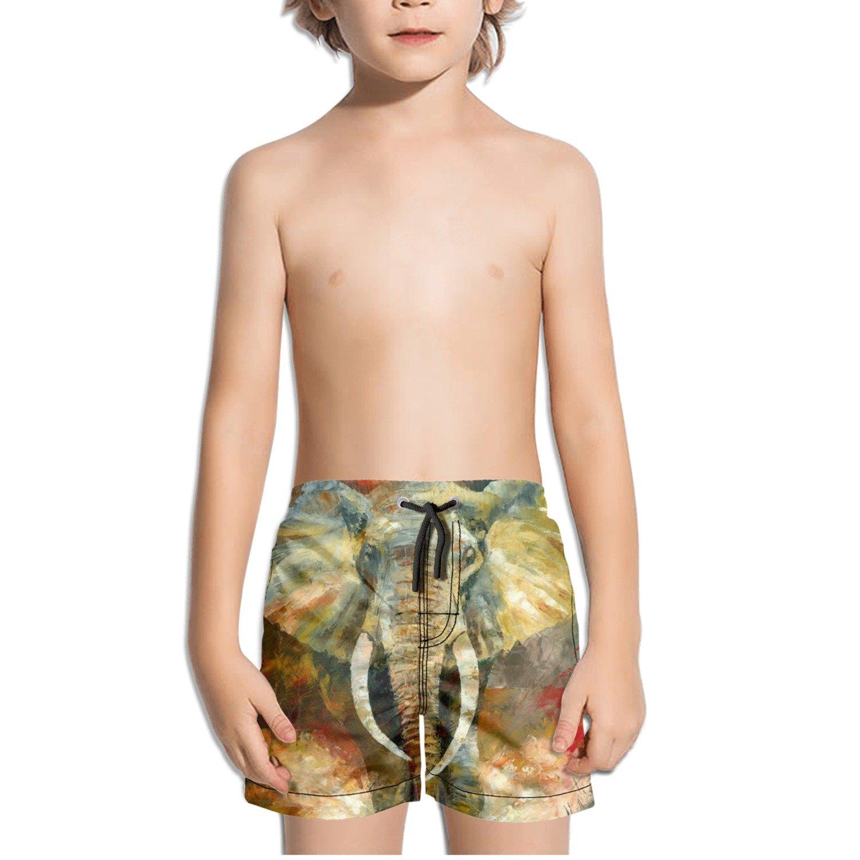 TylerLiu Attractive Elephant Cool Kids Boys Fast Drying Beach Swim Trunks Pants