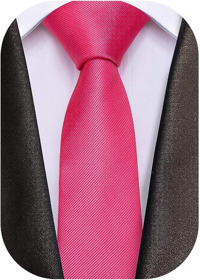 Corbata de seda sólida y bolsillo cuadrado para hombre con ...