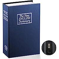 Book Safe with Combination Lock – Jssmst Home Dictionary Diversion Metal Safe Lock Box 2018, Blue Large