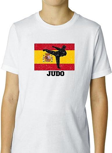 España olímpico – Judo – bandera – silueta niño del algodón ...