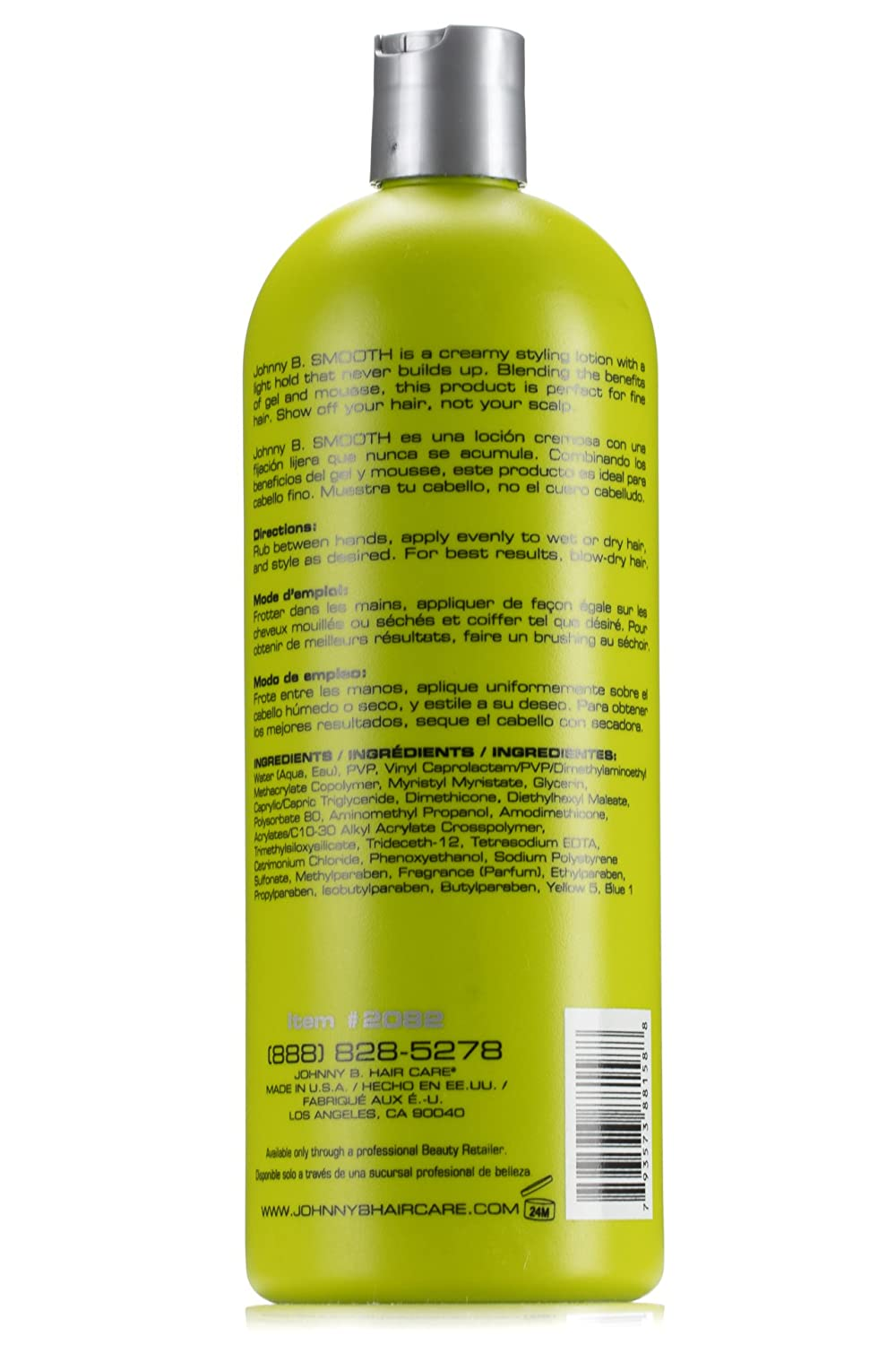 Johnny B Smooth Styling Cream, Half Gel Half Mousse 32 ounce