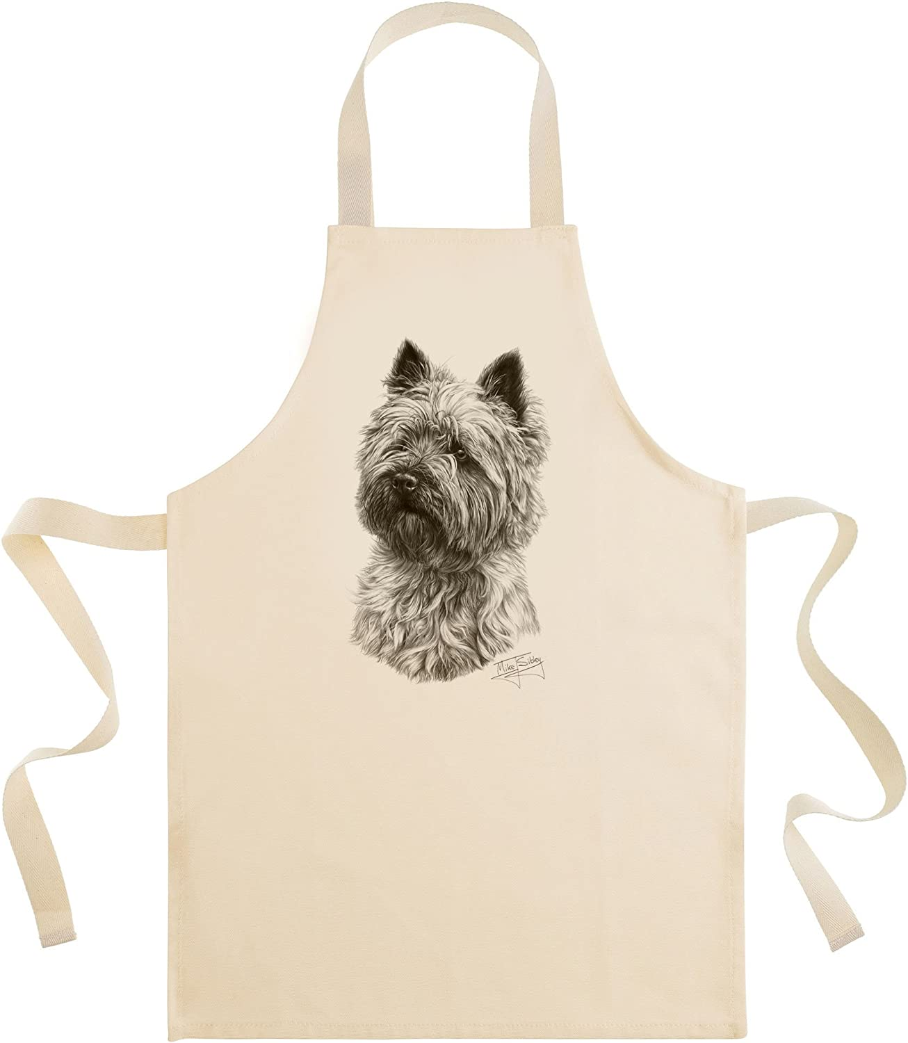 Mike Sibley Cairn Terrier Cotton Drill Apron Amazon Co Uk Kitchen Home