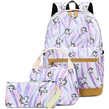 7c04edc1c83f CAMTOP School Backpack for Teen Girls Kids School Bookbag Set Travel  Daypack (A003 backpack set/Purple)