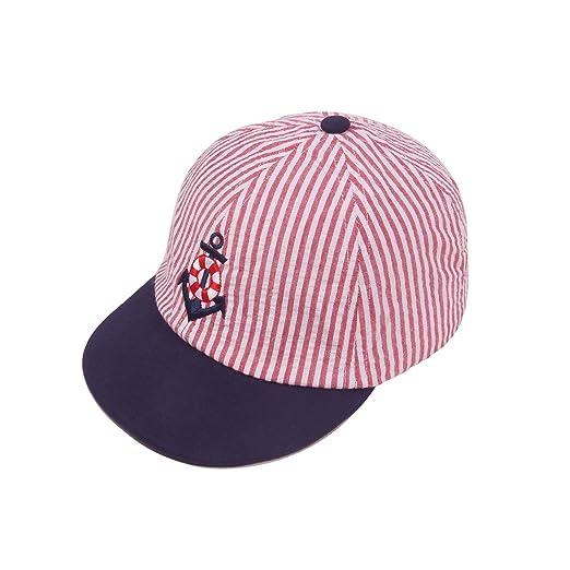 3c2e0db45f7bbf Baby Toddler Kids Baseball Hat Embroidery Cotton Red Stripe Baseball Cap  Boy Girl