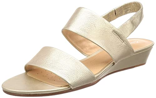 f21f575d0d20 Clarks Women s Sense Lily Champagne Lea Leather Pumps-3 UK India (35.5 EU