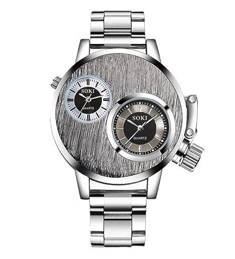 Relojes Hombre de pulsera de cuarzo analógico de acero inoxidable