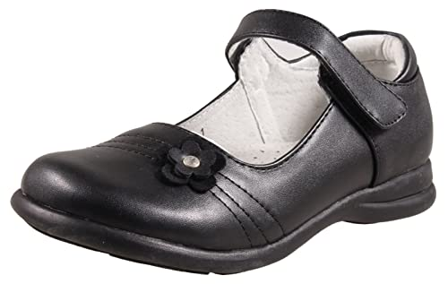 804350e3ce90c LIYZU Girl's Leather Mary Jane School Uniform Shoes Black(Toddler/Little  Girl/Big Girl)