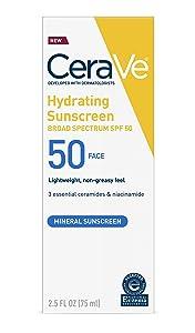Cerave 100% Mineral Sunscreen SPF 50