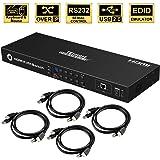 TESmart KVM Switch 8 Port HDMI | 4K 30Hz Ultra HD | Enterprise grade | RS232 | LAN Port | IP Control | Auto Scan…