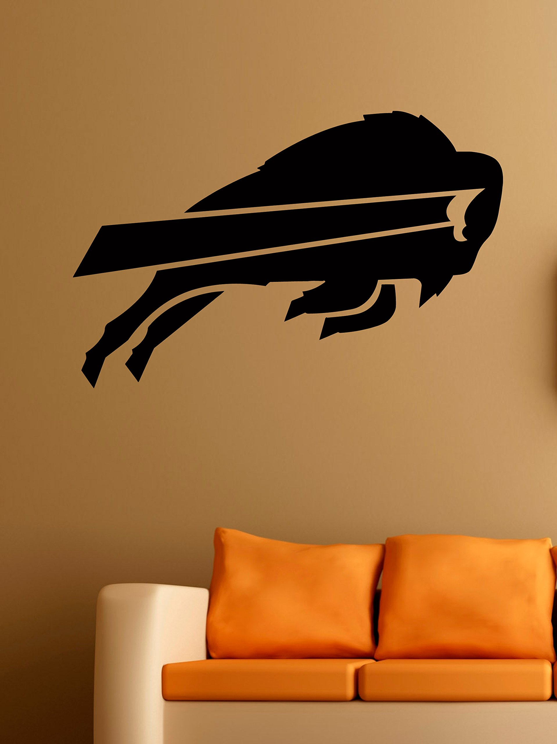 Buffalo Bills Logo Wall Vinyl Decals American Football Logotype Game Team Vinyl Decals Vinyl Murals Stickers IL1078 by Cool Design Decals