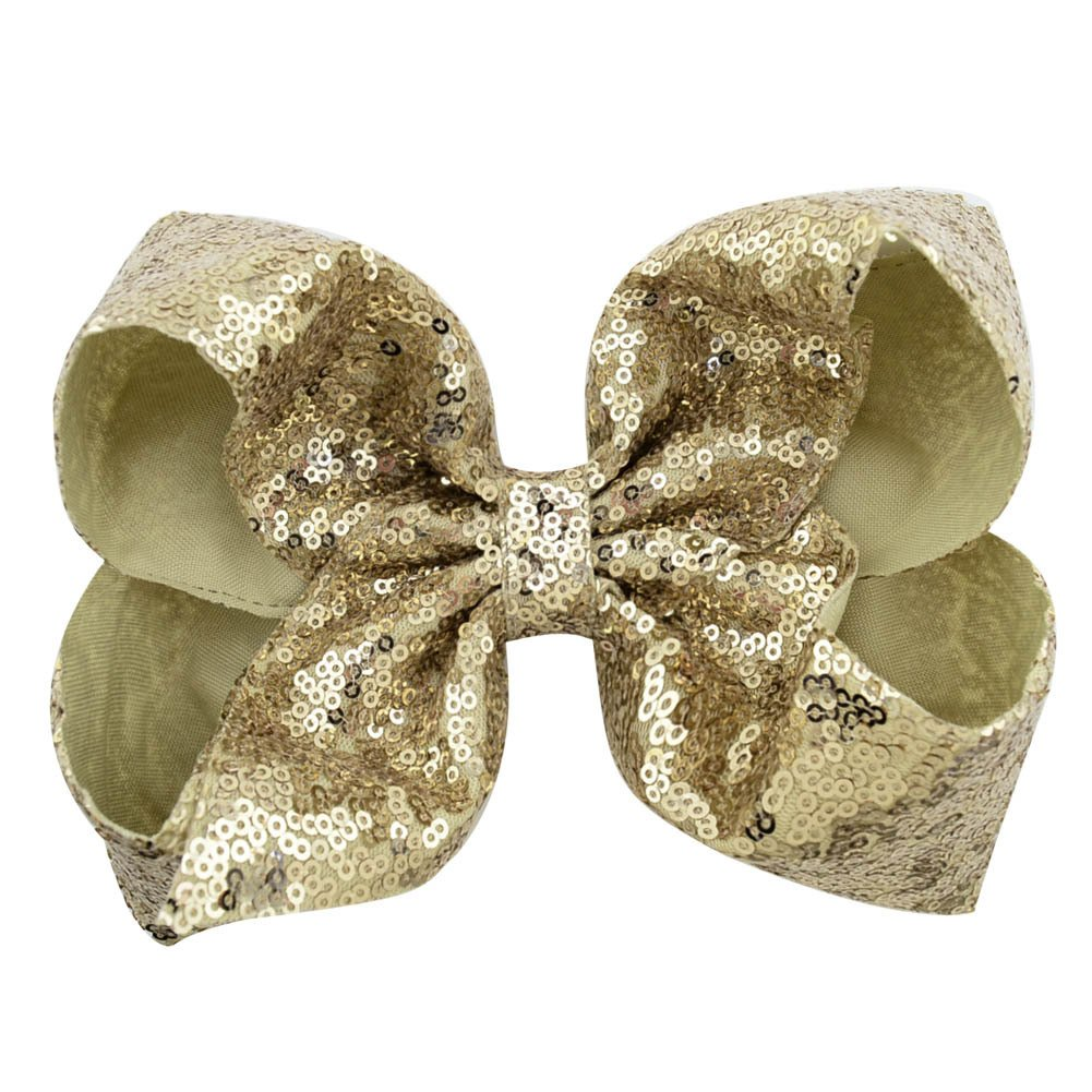 inSowni 8'' Big Large Glitter Bow Hair Clips Barrettes for Baby Girl Toddlers Kids Women (6PCS S2 (Size/8'')) by inSowni (Image #7)