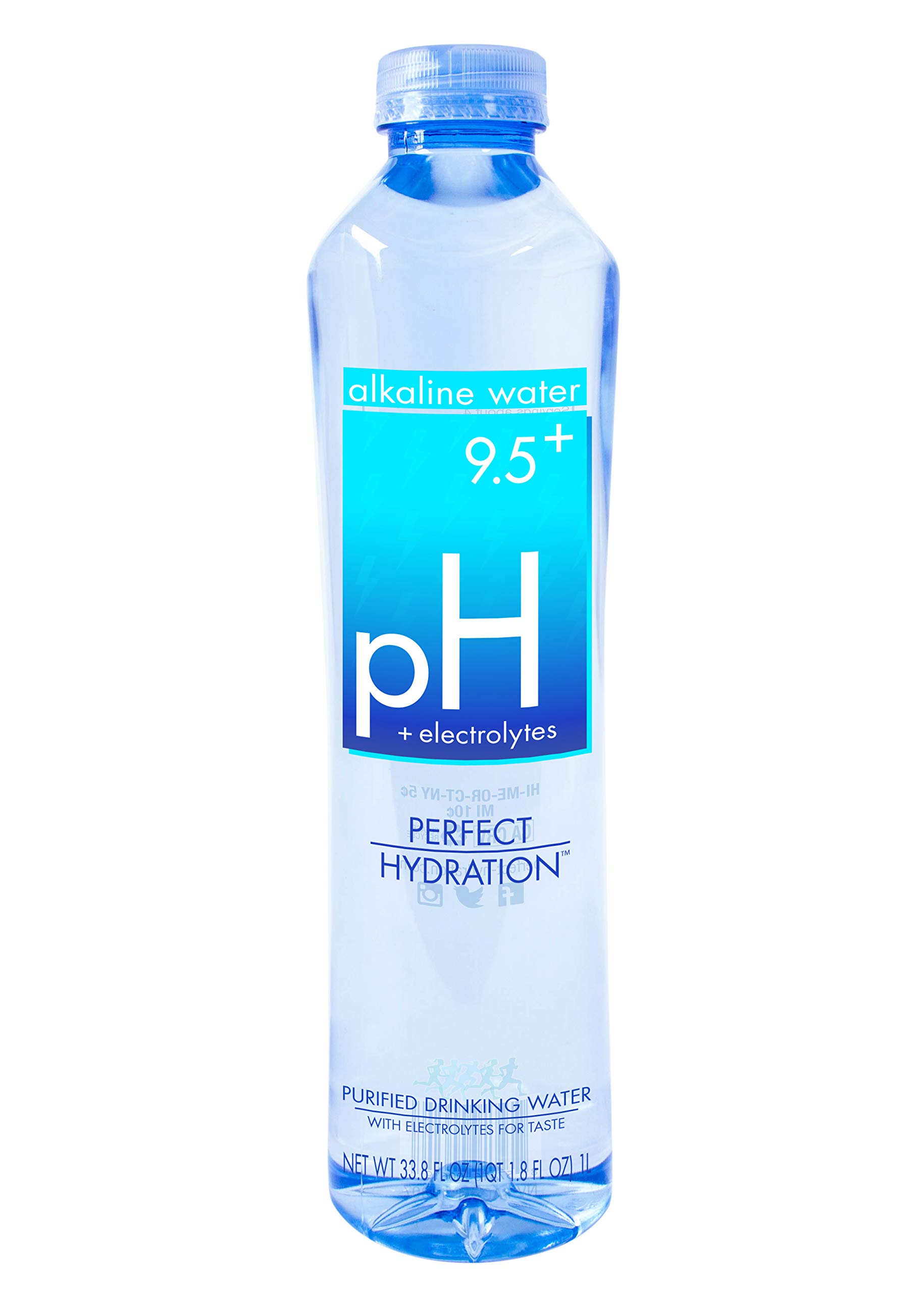 Perfect Hydration Alkaline Electrolyte Enhanced Water, pH 9.5+, 33.8 Fl. Oz (Pack of 12) by Perfect Hydration