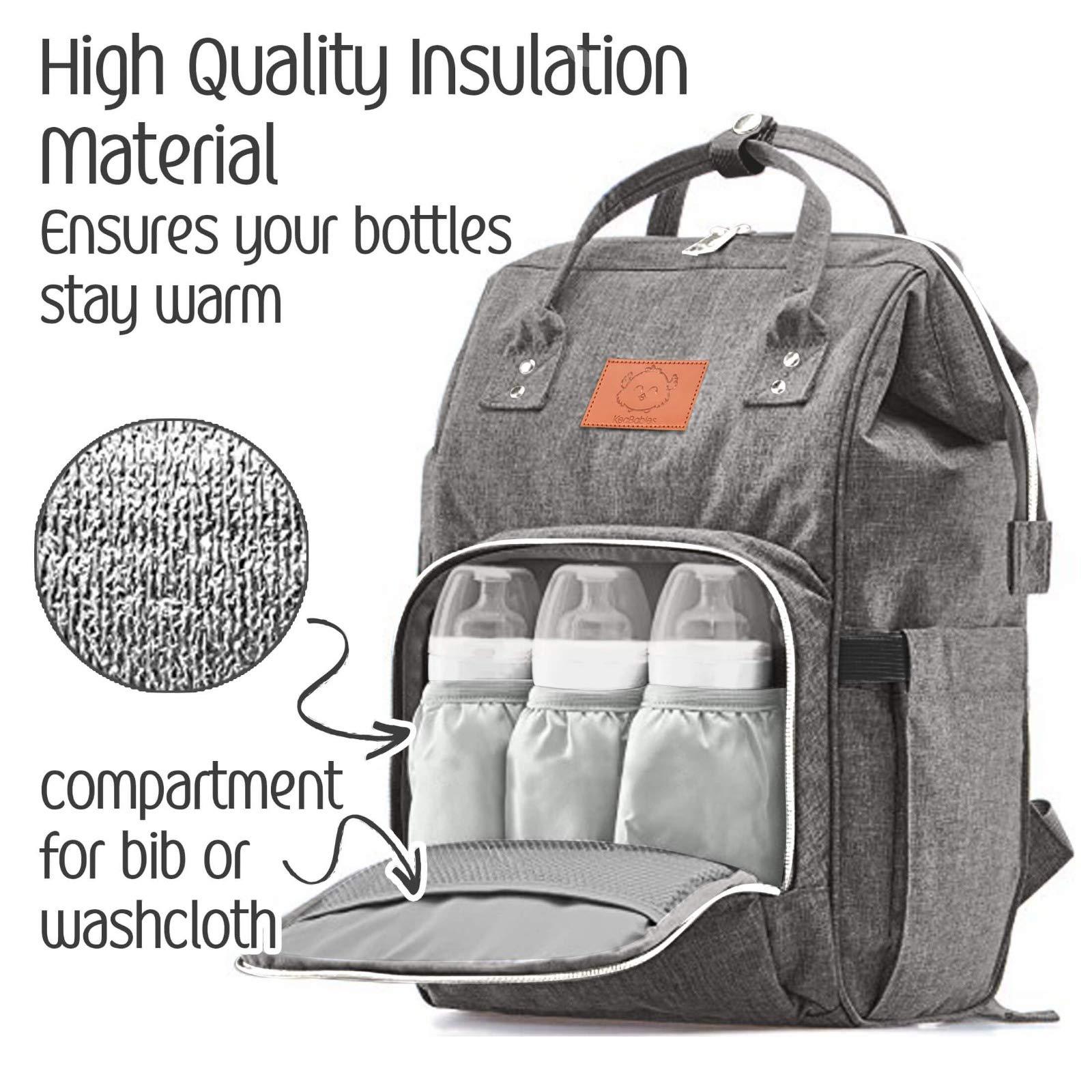 acad9715d5 Baby Diaper Bag Backpack – Multi-Function Waterproof Travel Baby Bags for  Mom, Dad ...
