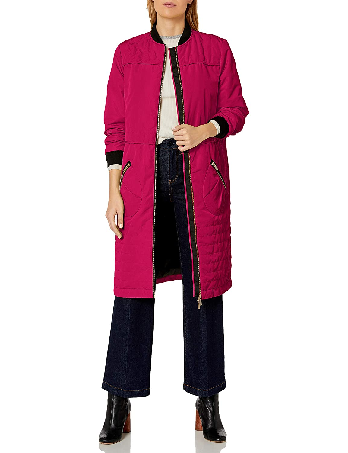 Image of Coats & Jackets A|X Armani Exchange Women's Knee Length Coat Front and Zipper Pockets