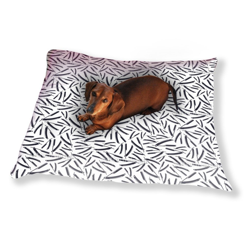 Razor Blades Silhouettes Dog Pillow Luxury Dog / Cat Pet Bed