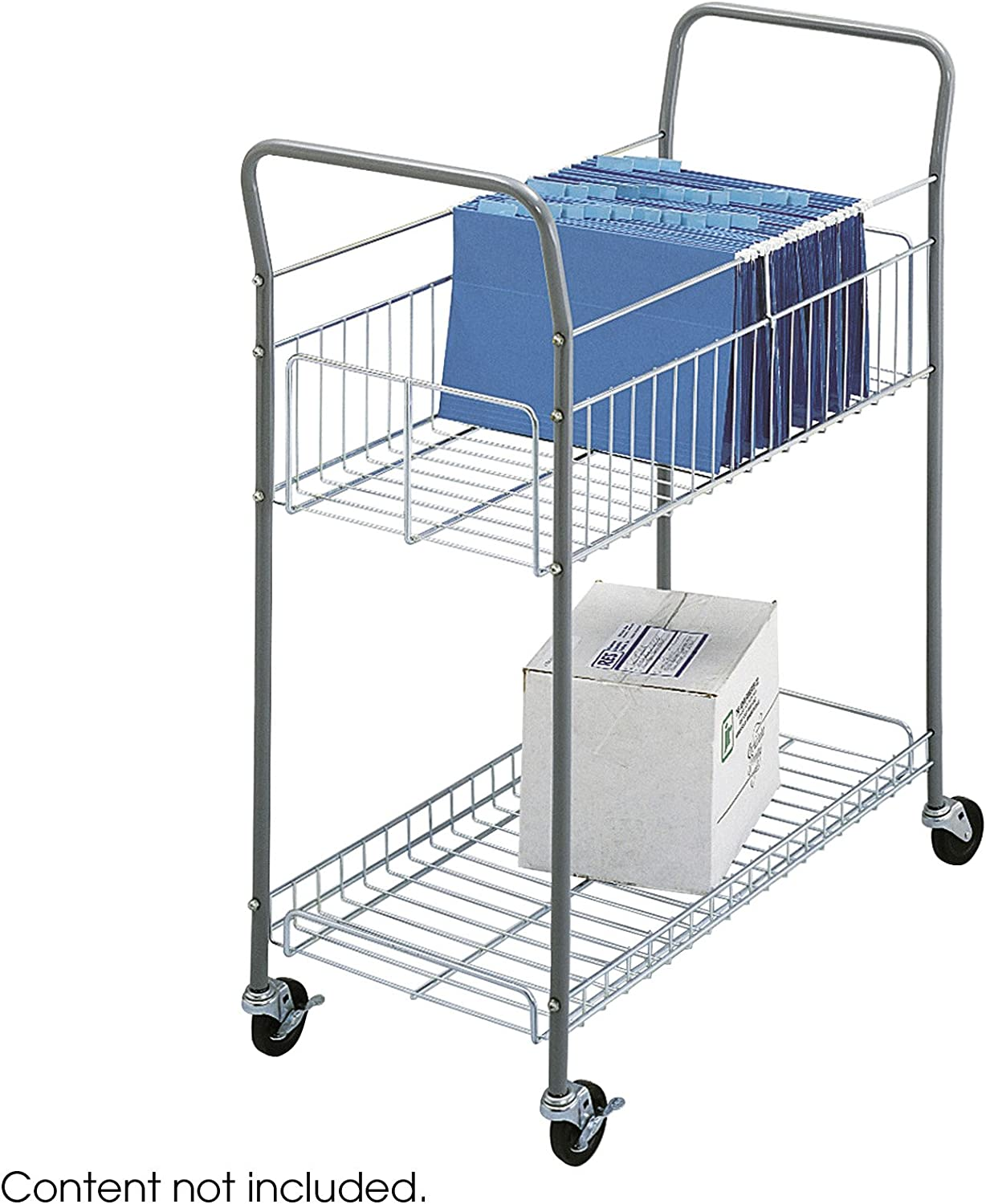 B00006IC1V Safco Products 7754 Economy Mail Cart, Gray 71JYU7XBd2BL.SL1500_