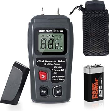 Digital LCD Wood Moisture Meter Detector Tester Timber Damp Hygrometer 4 Pins US