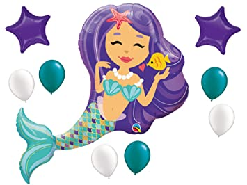 Mermaid Birthday Balloons Party Supplies Or Baby Shower Set 38quot Enchanted With