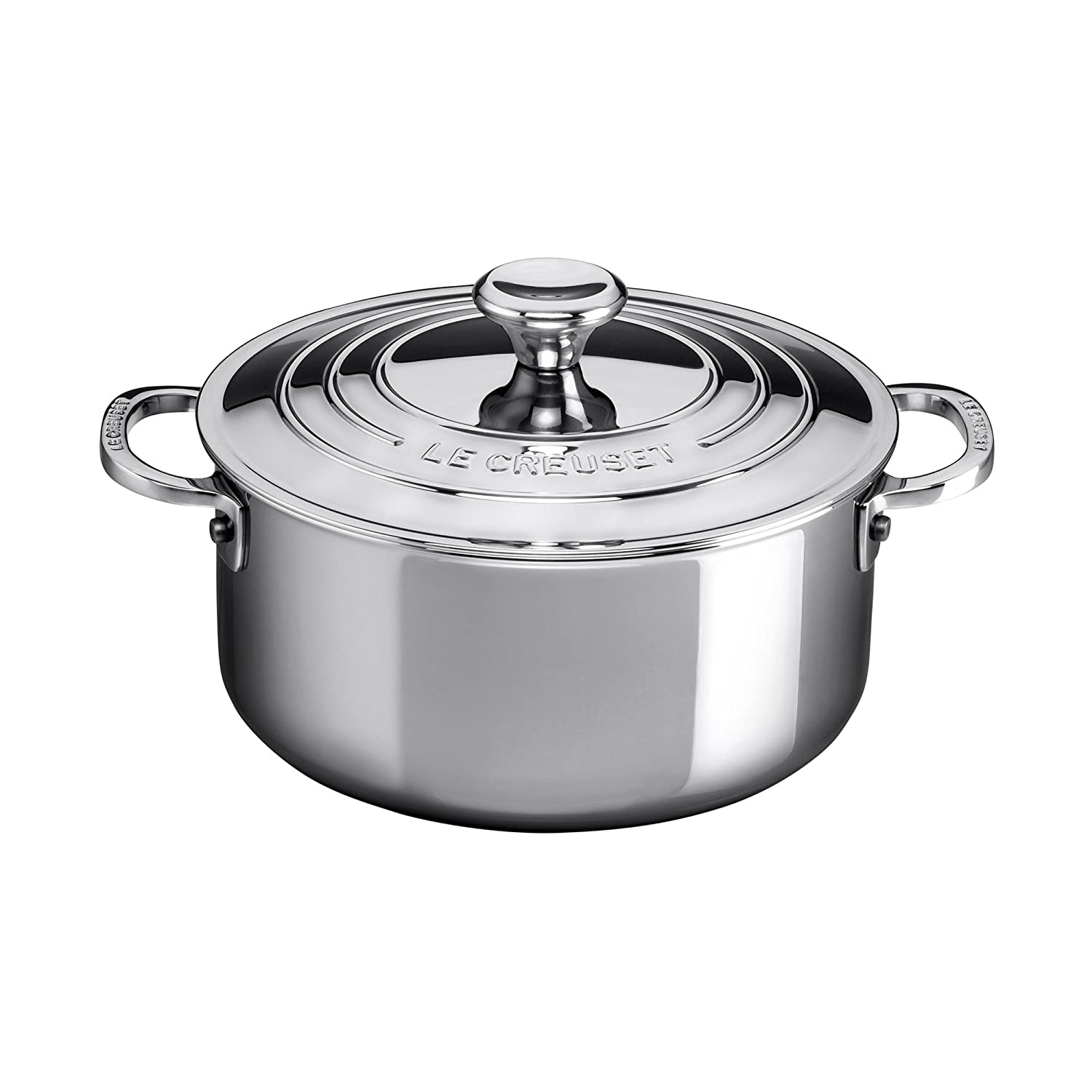 Le Creuset SSP3000-24 Stainless Steel 5.5 quart Shallow Casserole with Lid