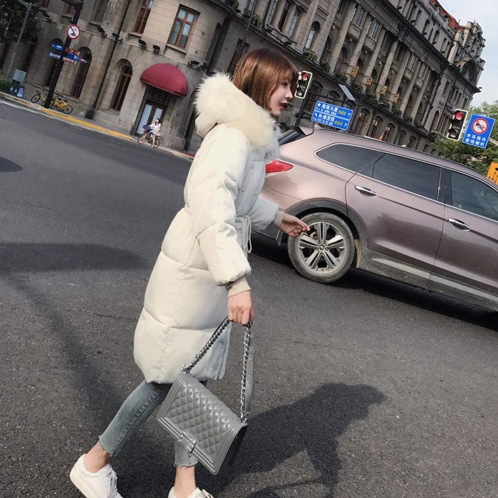 Sweatshirts for Women Hoodie Pullover,Women Outerwear Coat Long Cotton-Padded Jackets Pocket Fur Hooded Coats