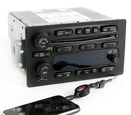1 Factory Radio AM FM 6 CD Radio w Aux on Pigtail Compatible With 2003-05 on